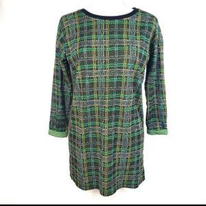 Topshop Green Plaid shift Dress
